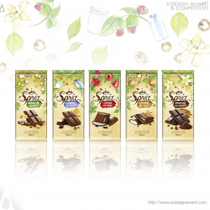 Spria Chocolate Range of Chocolate Tablets by Ampro Design