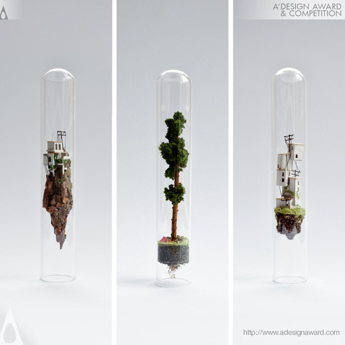 A 39 design award and competition micro matter miniature for Glass test tubes for crafts