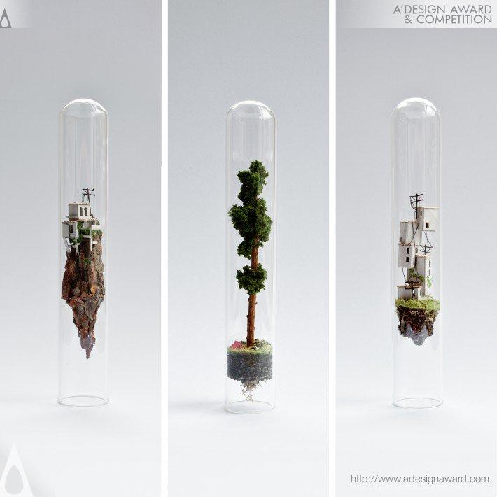 Micro Matter (Miniature Sculptures in Glass Test Tubes Design)