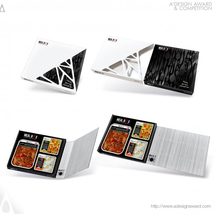 A 39 design award and competition mealbox food packaging for Press kit design