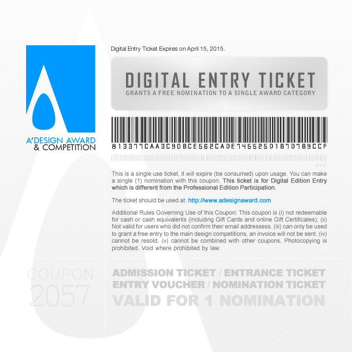 a design award and competition digital entry tickets