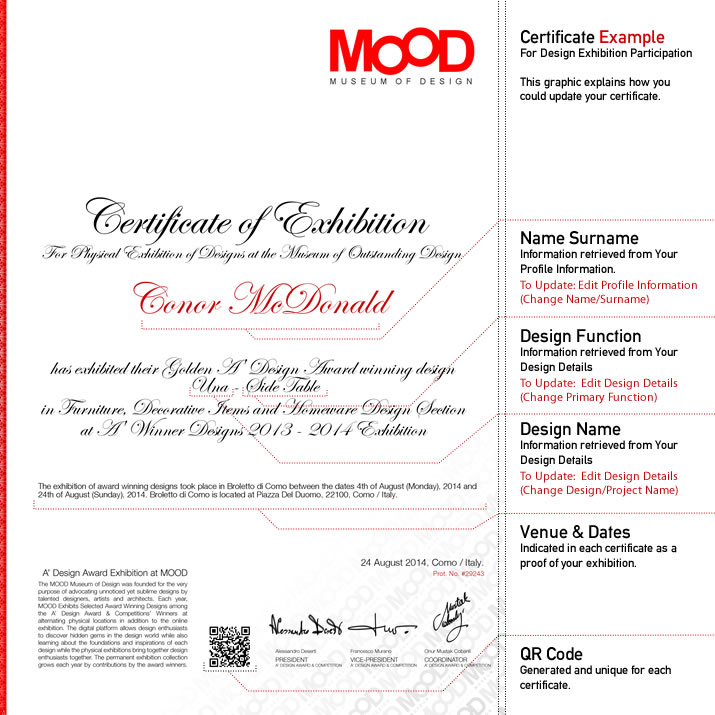 A design award and competition winners certificate a design award certificates yadclub Gallery