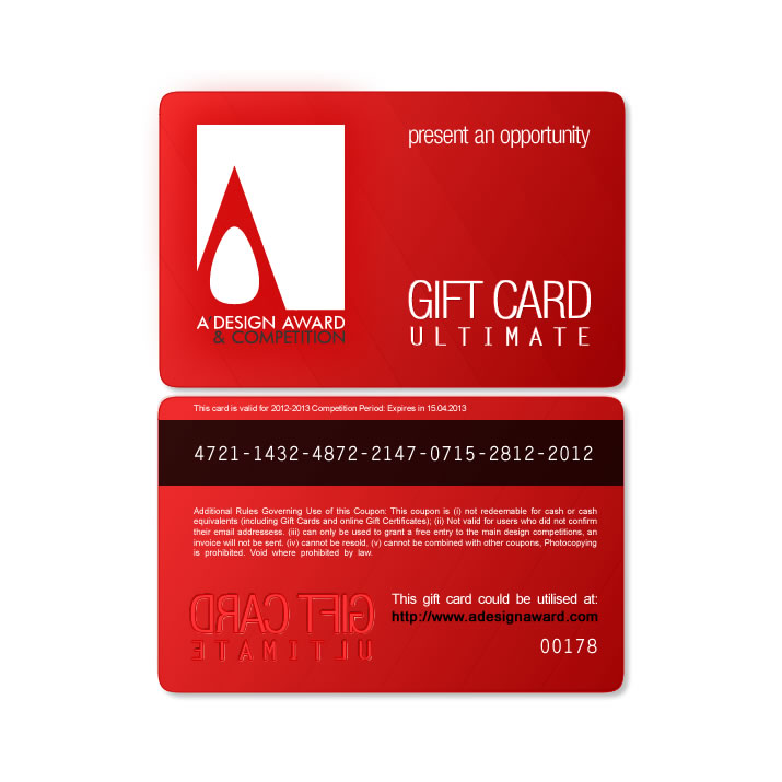 A' Design Award and Competition - Gift Cards